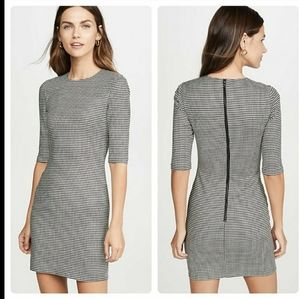 ALICE + Olivia Delora Houndstooth Check Dress